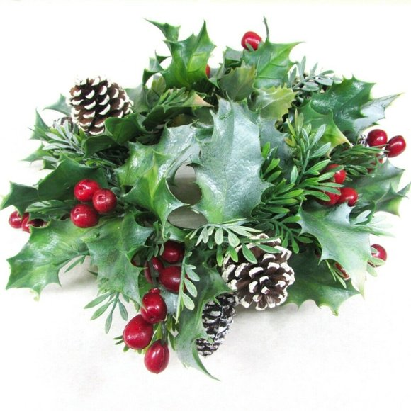 unknown Other - Christmas Holiday Candle Ring Plastic Greenery